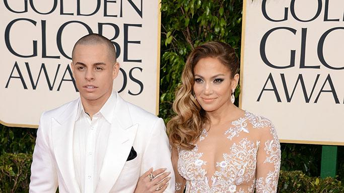 70th Annual Golden Globe Awards - Arrivals: Casper Smart and Jennifer Lopez