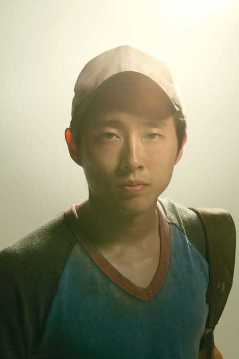 "Steven Yeun as Glenn on ""The Walking Dead."""