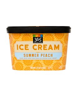 365 Everyday Value Summer Peach Ice Cream