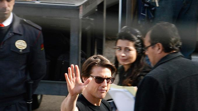 Spotted on Set December 2009 Tom Cruise