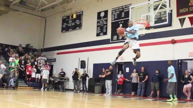 Football + Basketball = An Amazing slam dunk