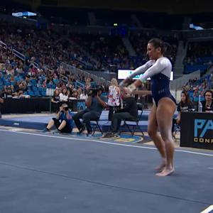 Highlight: Angi Cipra's stellar floor routine brings home win for UCLA women's gymnastics