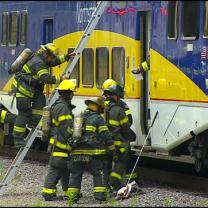 Emergency Train Crash Drill Held At Target Field