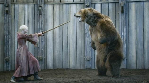 Gwendoline Christie as Brienne of Tarth in 'Game of Thrones' Season 3, Episode 307, 'The Bear and the Maiden Fair' -- HBO