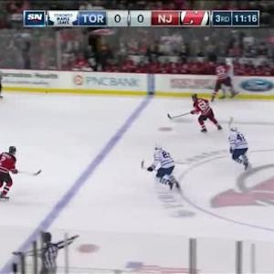 Mark Fraser Hit on David Clarkson (08:47/3rd)