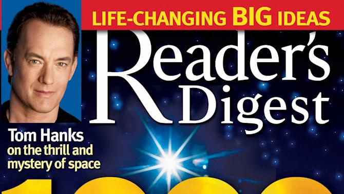 In this 2005 magazine cover provided by Reader's Digest magazine, the 1,000th issue of the 83-year-old mini magazine, is shown.  The parent company of Reader's Digest has filed for Chapter 11 bankruptcy protection for the second time in less than four years on Monday, Feb. 18, 2013, saying it needs to cut its debt so it can keep restructuring. (AP Photo/Reader's Digest, file) NO SALES