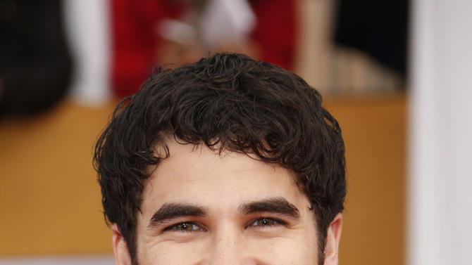 Darren Criss arrives at the 19th Annual Screen Actors Guild Awards at the Shrine Auditorium in Los Angeles on Sunday Jan. 27, 2013. (Photo by Todd Williamson/Invision for The Hollywood Reporter/AP Images)