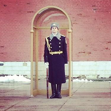 Standing guard at the Kremlin