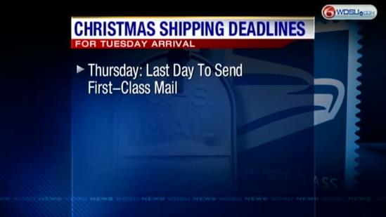 USPS shipping deadlines