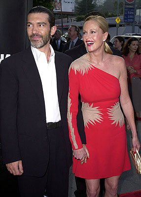 Antonio Banderas and Melanie Griffith at the L.A. premiere of MGM's Original Sin