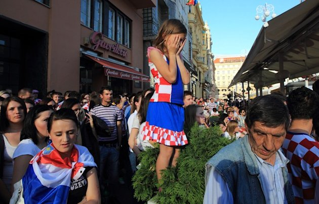 Croatian Football Fans React …
