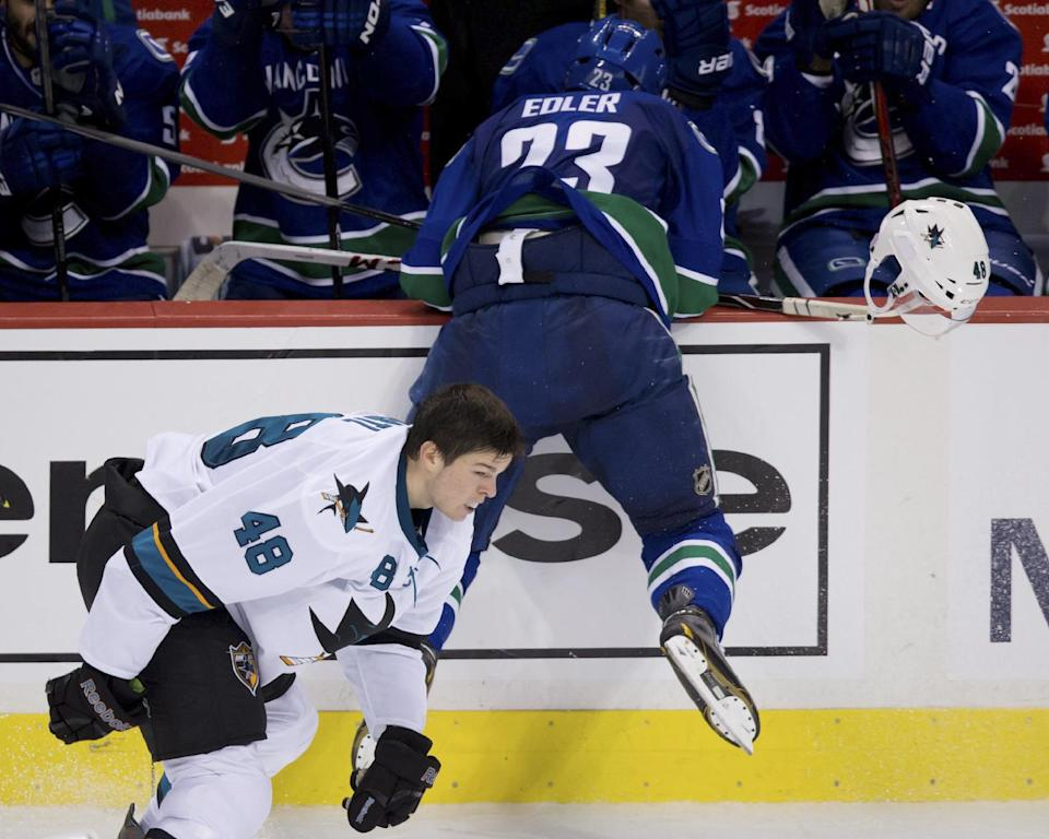Canucks' Edler gets 3-game suspension for check