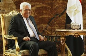 Palestinian President Abbas attends a meeting with …