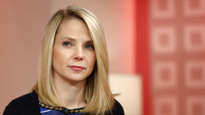 """This image released by NBC shows Yahoo CEO Marissa Mayer appearing on NBC News' """"Today"""" show, Wednesday, Feb. 20, 2013 in New York to introduce the website's redesign. Yahoo is renovating the main entry into its website in an effort to get people to visit more frequently and linger for longer periods of time. The long-awaited makeover of Yahoo.com's home page is the most notable change to the website since the Internet company hired Marissa Mayer as its CEO seven months ago. The new look will start to gradually roll out in the U.S early Wednesday. (AP Photo/NBC Peter Kramer/NBC/NBC NewsWire)"""