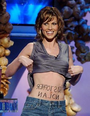 Hilary Swank Presenting Best New Filmmaker Award MTV Movie Awards 6/1/2002