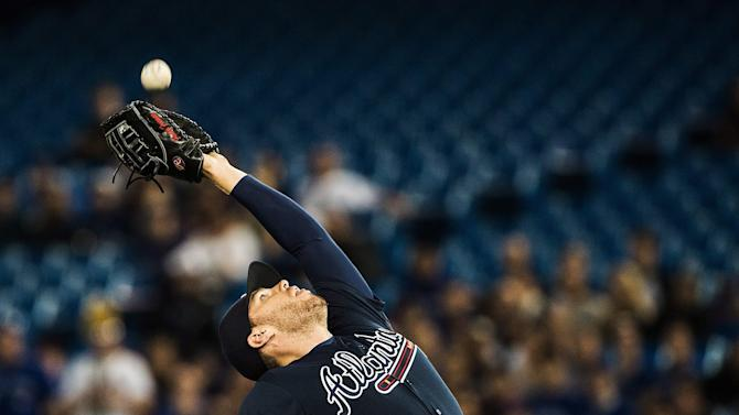 Gomes has pinch-hit homer, Braves beat Blue Jays