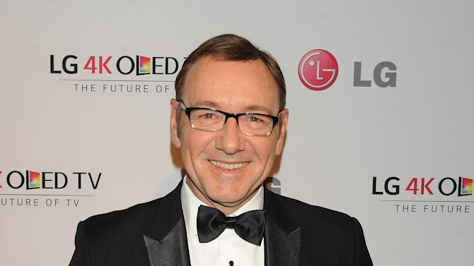 IMAGE DISTRIBUTED FOR LG ELECTRONICS - Kevin Spacey celebrates emerging digital artists and the rise of Ultra HD 4K technology at LG Electronics' Art of the Pixel Gala at Gotham Hall, on Wed., Sept. 17, 2014 in New York. (Photo by Scott Gries/Invision for LG Electronics/AP Images)
