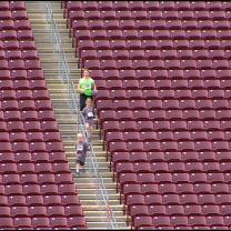 Thousands Run TCF Bank Stadium Stairs For Cancer Research