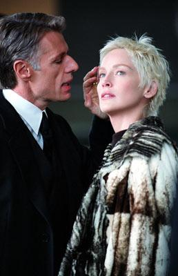 Lambert Wilson and Sharon Stone in Warner Brothers' Catwoman