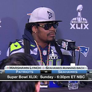 Seattle Seahawks running back Marshawn Lynch press conference highlights