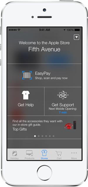 Apple guides shoppers inside stores with iBeacon