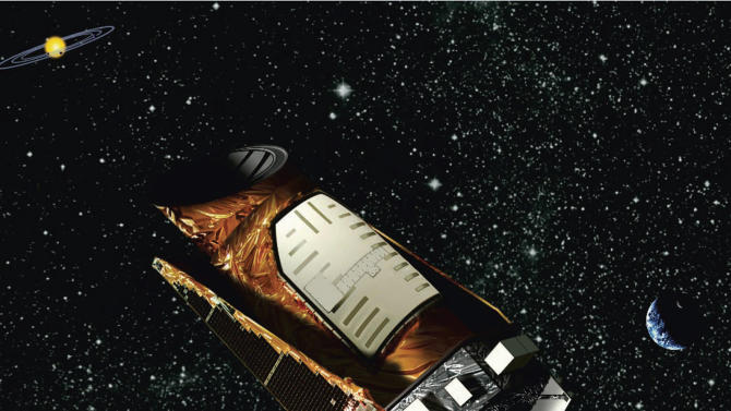 This artist rendition provided by NASA shows the Kepler space telescope. The spacecraft lost the second of four wheels that control the telescope's orientation in space, NASA said Wednesday, May 15, 2013. If engineers can't find a fix, the failure means the telescope won't be able to look for planets outside our solar system anymore. (AP Photo/NASA)