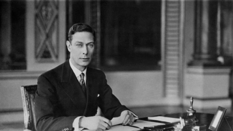 "FILE - In this April 8, 1937 file photo, Britain's King George VI at his desk, in Buckingham Palace, London. In choosing to call their first child George Alexander Louis, on Wednesday, July 24, 2013, Prince William and his wife, Kate, selected a first name steeped in British history.While ""George"" means farmer and earth worker _ not trades typically associated with British royals _ it has been borne by six kings. (AP Photo/London Times, File) NO SALES"