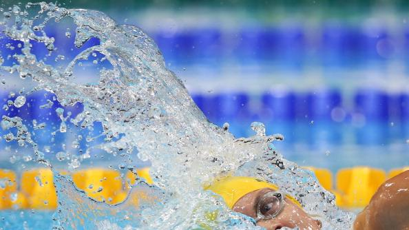 Jacqueline Freney of Australia is competes in the Women's 100m Freestyle - S7 final on day 5 of the London 2012 Paralympic Games at Aquatics Centre on September 3, 2012 in London, England. (Photo by Clive Rose/Getty Images)