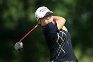 South Korea's Jiyai Shin during the final round of the LPGA Kingsmill Championship on September 9. Shin and Paula Creamer were locked in a playoff duel when darkness halted play at the ninth hole of their sudden-death decider
