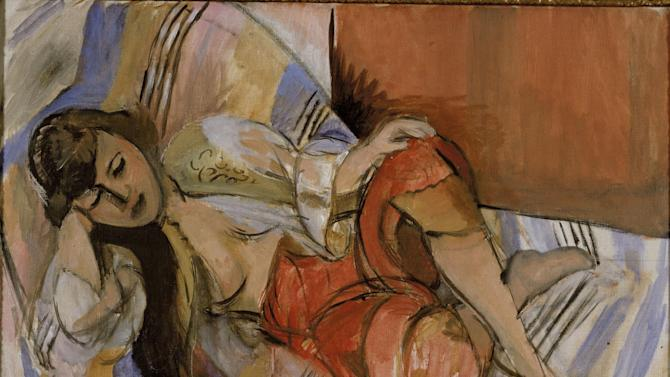 This photo provided by Stedelijk Museum in Amsterdam on Tuesday, Oct. 29, 2013, shows the 1921 painting Odalisque by Henri Matisse. Dutch museums have identified 139 pieces of art, including dozens of paintings, one by Matisse and many by Dutch painters of varying renown such as Impressionist Isaac Israels, as likely having been taken forcibly from Jewish owners. (AP Photo/Van Abbemuseum)