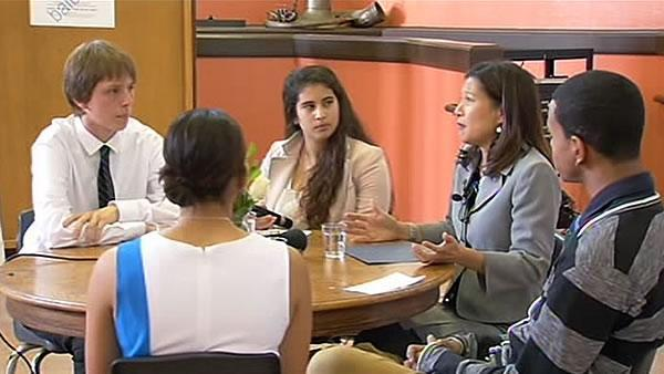 Students in San Francisco get visit from Chief Justice