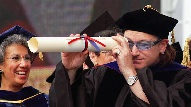 Bono Delivers Commencement Address at University Of Pennsylvania