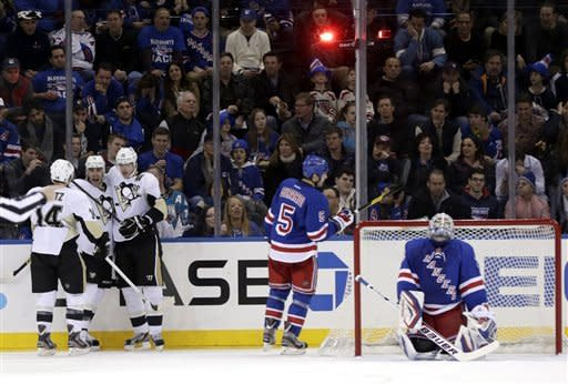 Neal, Malkin lead Penguins to 6-3 win over Rangers
