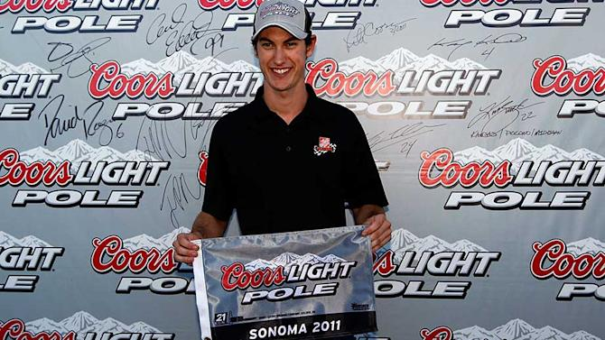 Joey Logano is the youngest Coors Light Pole winner at Sonoma