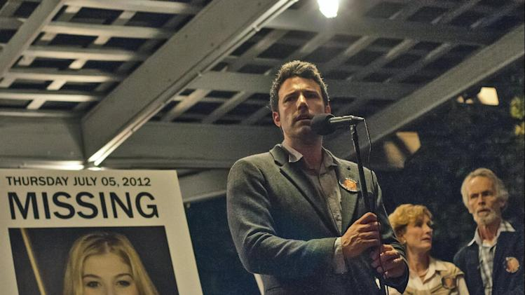 "This image released by 20th Century Fox shows Ben Affleck in a scene from ""Gone Girl."" The film will make its world premiere as the opening night film at the 52nd New York Film Festival. The Film Society of Lincoln Center announced Thursday, July 17, 2014, that the highly anticipated adaption of Gillian Flynn's best-selling novel will kick off the festival on September 26. The 20th Century Fox thriller, which stars Ben Affleck and Rosamund Pike, will premiere in theaters shortly after on October 3. (AP Photo/20th Century Fox, Merrick Morton)"