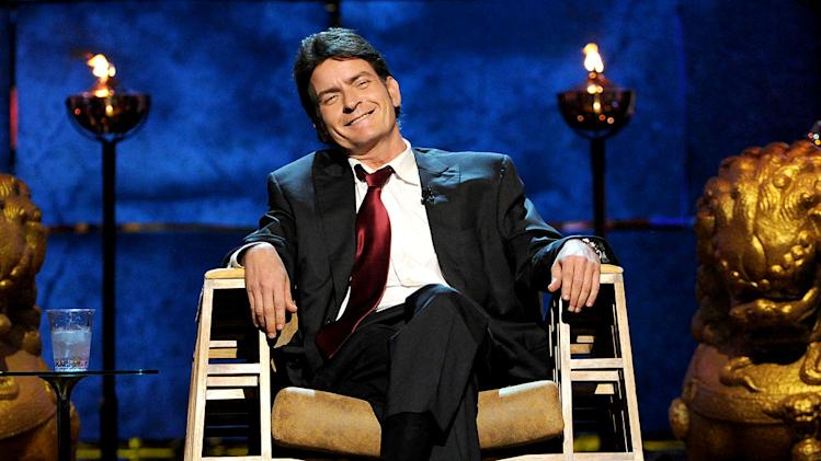 Roastee Charlie Sheen onstage at Comedy Central's Roast of Charlie Sheen.