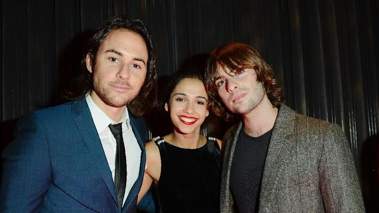 Lee Toland Krieger, Naomi Scott and Robert Schwartzman seen at The Premiere of Intel & W Hotels' Four Stories on Tuesday, Nov. 27, 2012, W Hotel, London. (Photo by Jon Furniss/Invision for Intel/AP Images)