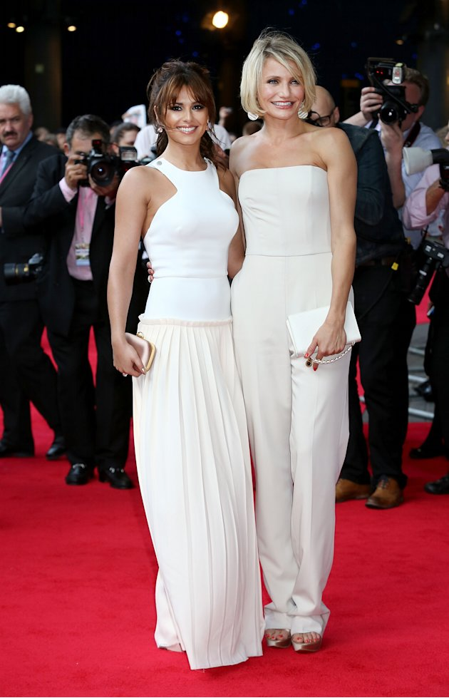 Cheryl Cole and Cameron Diaz at the What to Expect When Your Expecting UK  Premiere