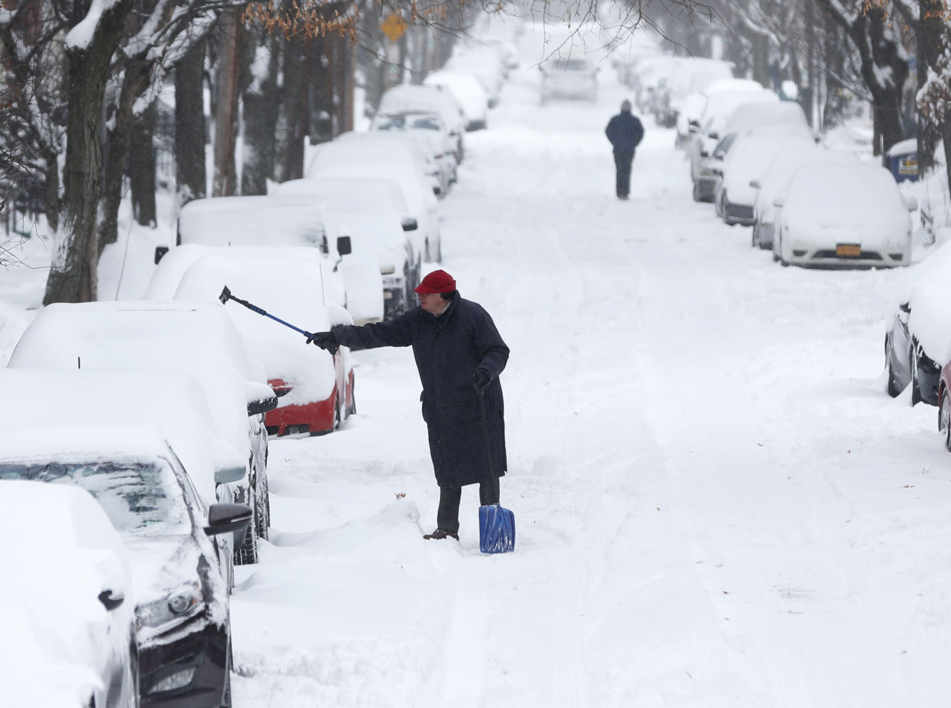 On friday, jan. 3, 2014, in albany, n.y. a winter storm slammed into