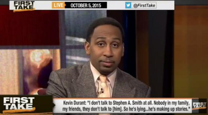"""Stephen A. Smith Goes Off on Kevin Durant on 'ESPN First Take': """"You Do Not Want to Make an Enemy Out of Me"""""""