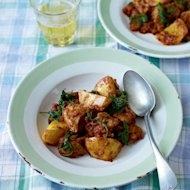 This chicken curry is a great recipe to have in your repetoire – making great use of storecupboard ingredients its a perfect midweek supper standby