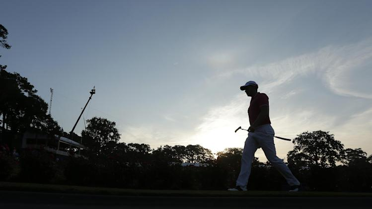 Henrik Stenson, of Sweden, walks to the 17th green during the third round of The Players championship golf tournament at TPC Sawgrass, Sunday, May 12, 2013, in Ponte Vedra Beach, Fla. Play was suspended Saturday due to darkness. (AP Photo/Chris O'Meara)
