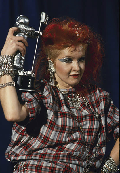 Winning an award at the very first MTV Video Music Awards, 1984