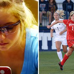 Boston U's Krebs Scores Goals in Soccer & Science