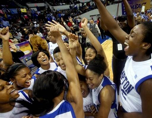 Hampton women defeat Howard 59-38 for MEAC title