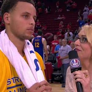 Stephen Curry On Court Interview