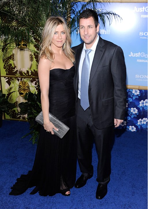 Just Go With It LA Premiere 2011 Jennifer Aniston Adam Sandler
