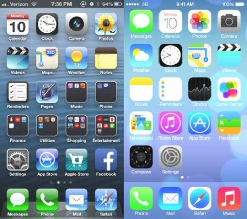 ios6 and ios7 icons