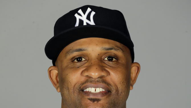FILE - This is a 2015 file photo showing CC Sabathia of the New York Yankees baseball team. Sabathia is checking into an alcohol rehabilitation center and will miss the postseason. The team released a statement from the pitcher Monday, Oct. 5, 2015, a day before New York plays Houston in the AL wild-card game. (AP Photo/Chris O'Meara, File)