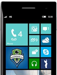 The Windows Phone 8 start screen
